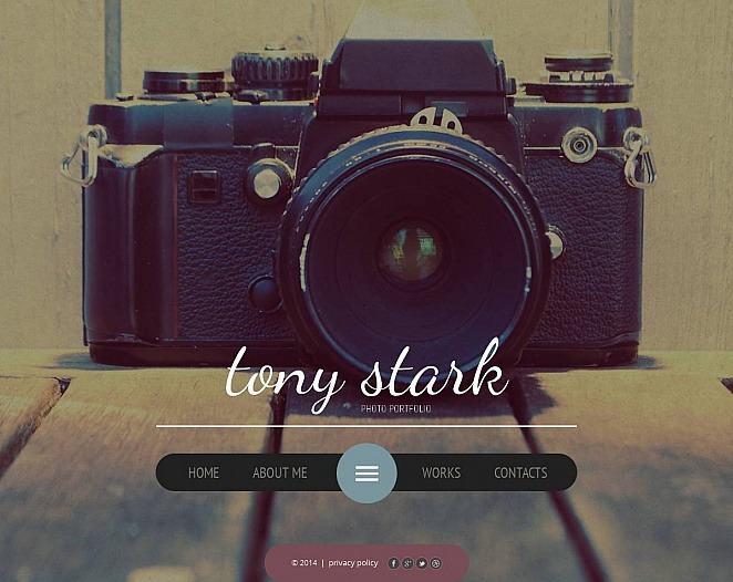 Fotogalerie Vorlage für Fotografen Portfolio  New Screenshots BIG
