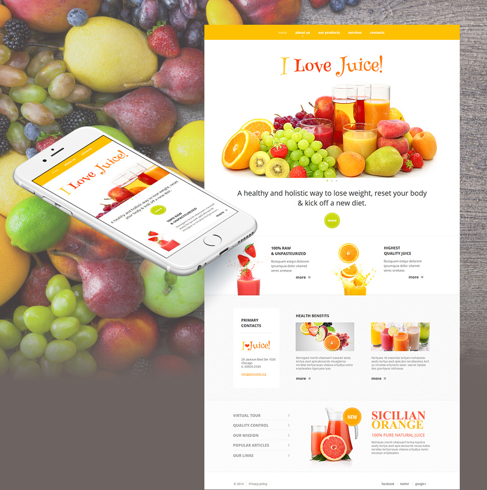 Food and Drink Website Template with Rich Imagery - image