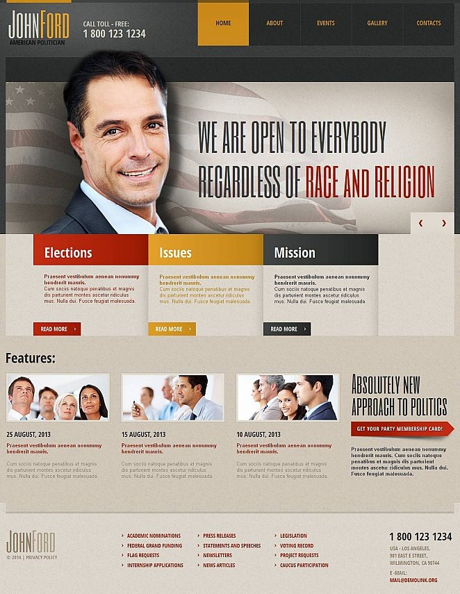 Political Website Template with Professional Design - image