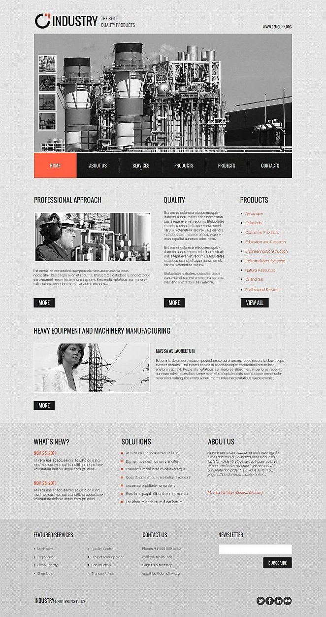 CMS Website Template for Industrial Businesses - image