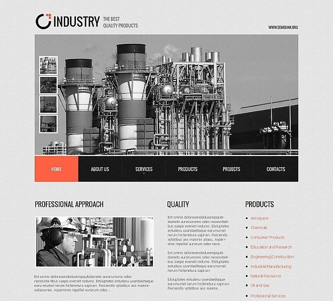 Plantilla Moto CMS HTML #51727 para Sitio de Industria New Screenshots BIG