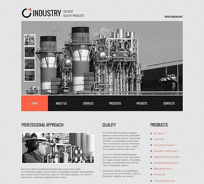 Premium Moto CMS HTML Template over Industriele New Screenshots BIG