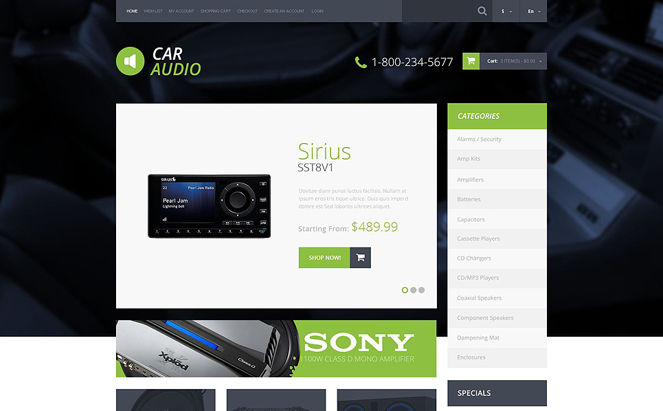 Responsywny szablon OpenCart #51729 na temat: audio samochodowe New Screenshots BIG