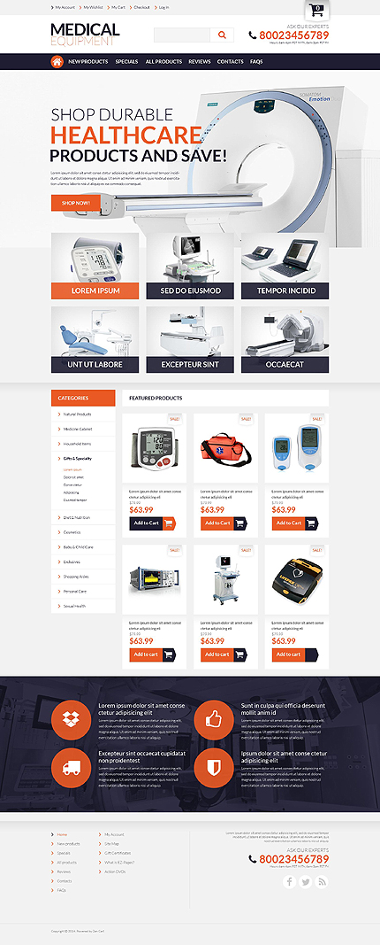 ZenCart Template 51733 Main Page Screenshot