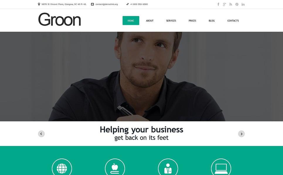 Responsive WordPress thema over Business & Diensten New Screenshots BIG