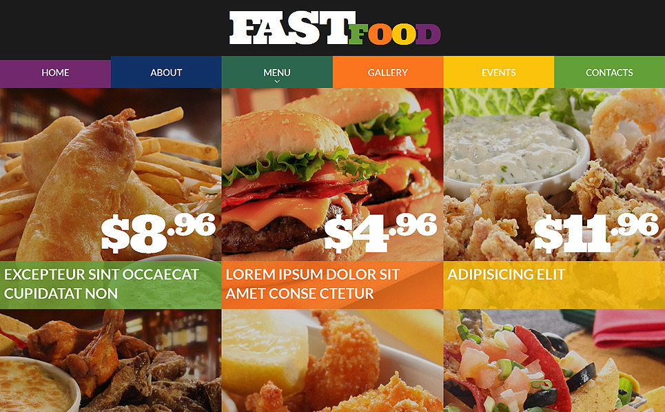 Responsywny szablon strony www #51742 na temat: restauracja Fast Food New Screenshots BIG