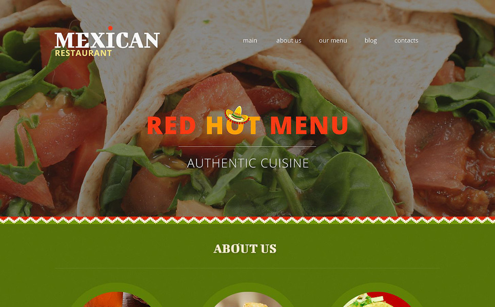 Responsive Joomla Template over Mexicaans Restaurant New Screenshots BIG