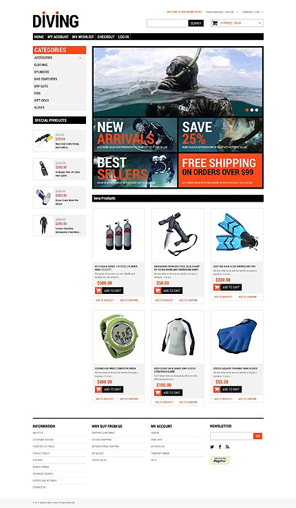 Magento Theme/Template 51750 Main Page Screenshot