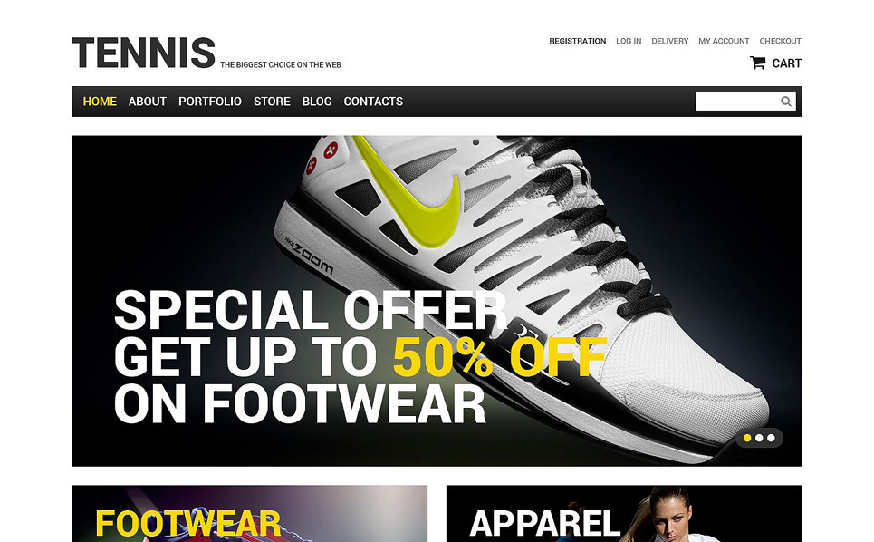 Responsive Tenis  Woocommerce Teması New Screenshots BIG