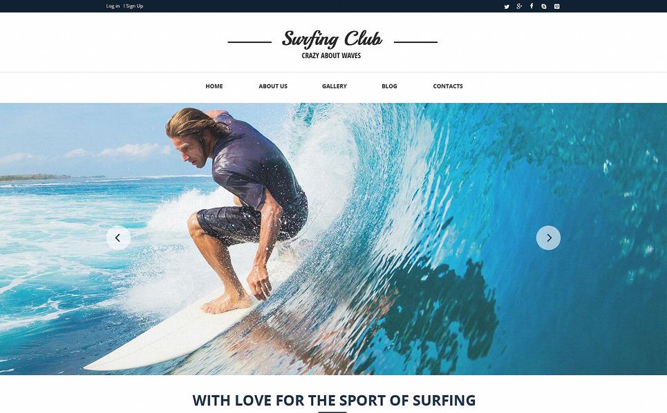Responsive Website template over Surfen  New Screenshots BIG