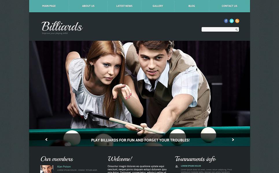 Template Joomla Flexível para Sites de Bilhar №51765 New Screenshots BIG