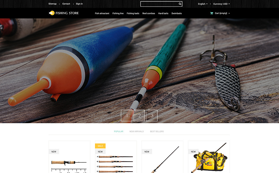 Responsywny szablon PrestaShop #51766 na temat: wędkarstwo New Screenshots BIG