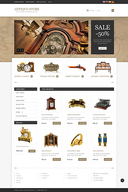 osCommerce Template 51767 Main Page Screenshot