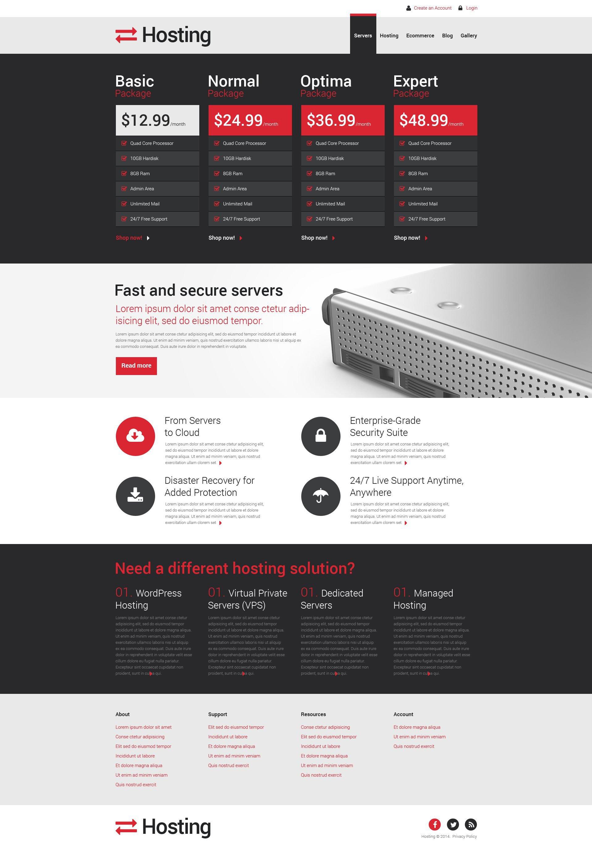 Best Hosting Company Solution Drupal Design #51768 Sale