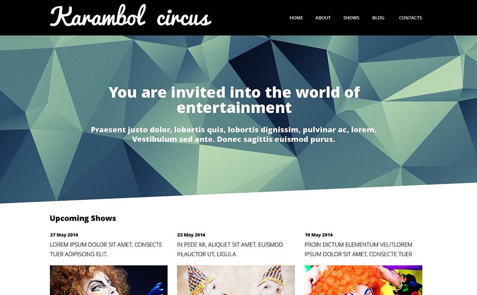 Reszponzív Szórakozás WordPress sablon New Screenshots BIG