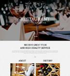 Cafe & Restaurant Website  Template 51778