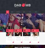 Night Club Website  Template 51781