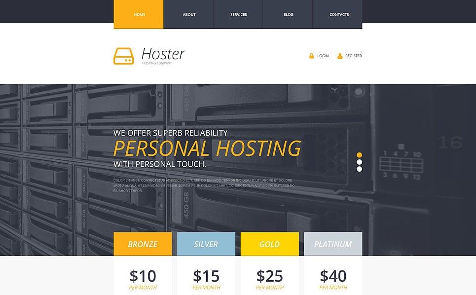 Reszponzív Hosting  Weboldal sablon New Screenshots BIG