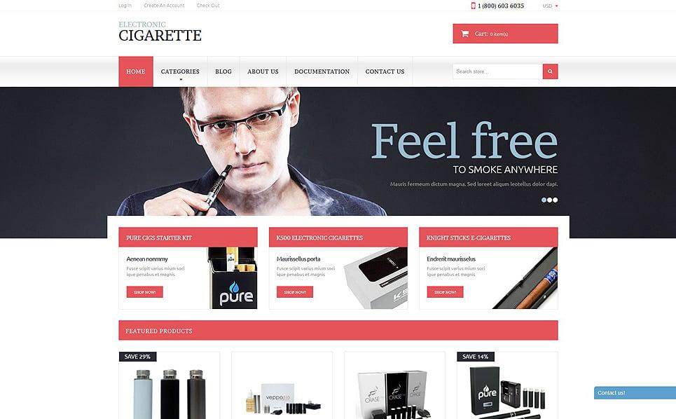 Responsywny szablon Shopify #51785 na temat: tytoń New Screenshots BIG