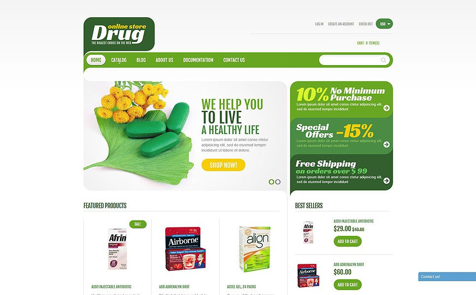 "Shopify Theme namens ""Drogerie"" New Screenshots BIG"