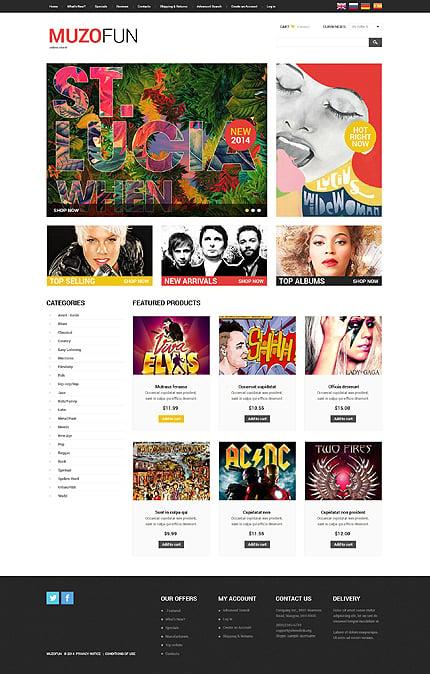 osCommerce Template 51788 Main Page Screenshot