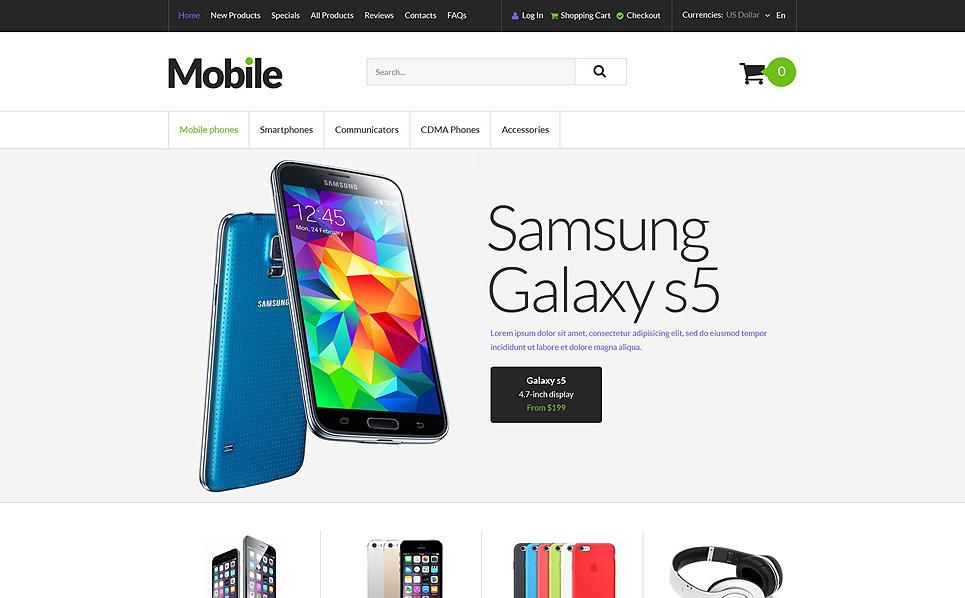 """ZenCart Vorlage namens """"Mobile Endgeräte"""" New Screenshots BIG"""