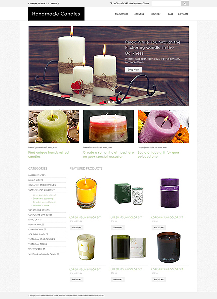 ADOBE Photoshop Template 51795 Home Page Screenshot