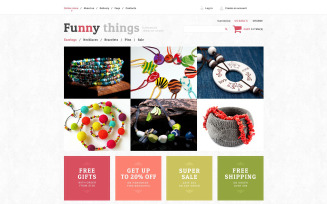 Exquisite Handmade Jewelry VirtueMart Template
