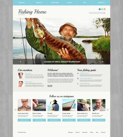 Адаптивный Joomla шаблон №51764 на тему рыбалка