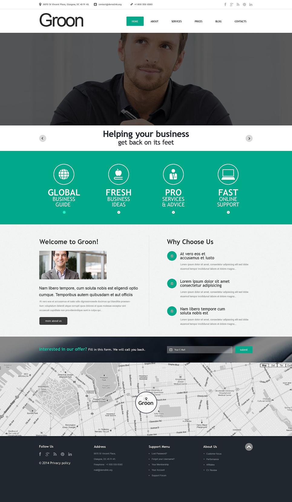 Адаптивный шаблон сайта на тему бизнес и услуги #51736