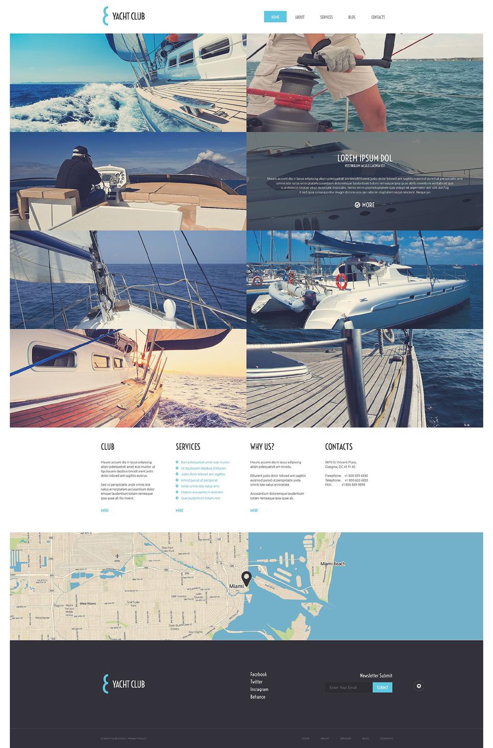 Адаптивный шаблон сайта на тему яхтинг #51739