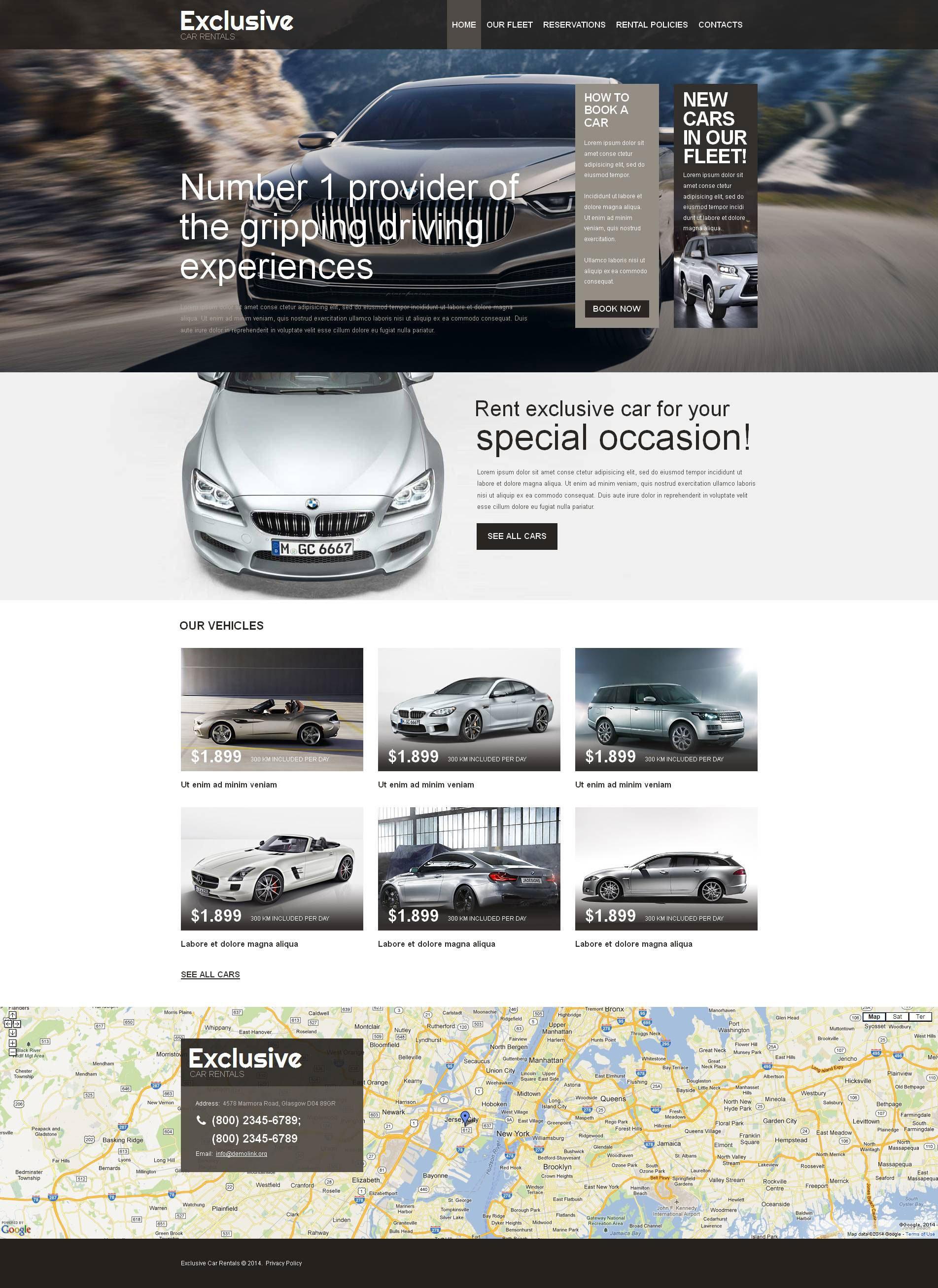 Car Rental Moto CMS HTML Template - screenshot