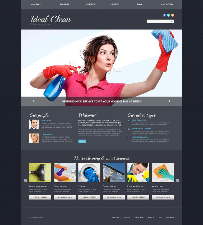 Cleaning Responsive Joomla Template New Screenshots BIG