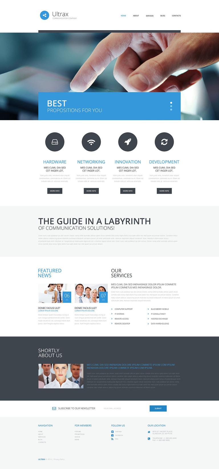Communications WordPress Theme New Screenshots BIG