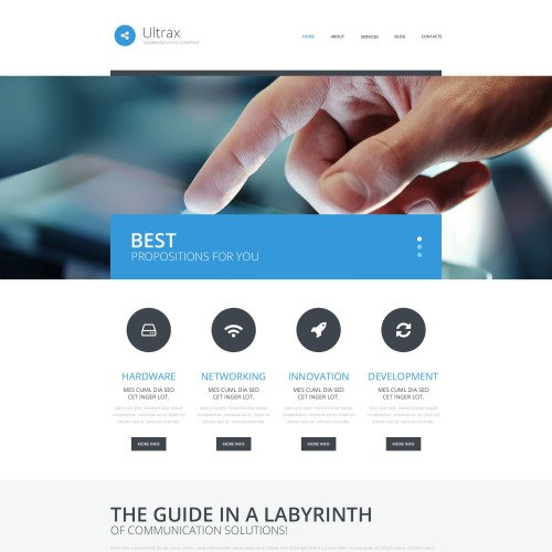 Ultrax - WordPress Template based on Bootstrap