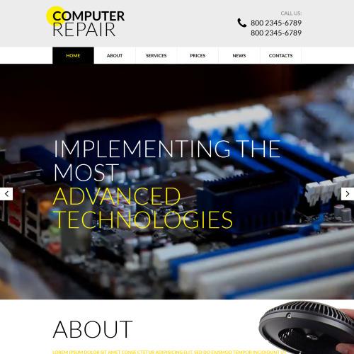 Computer Repair - Responsive Website Template