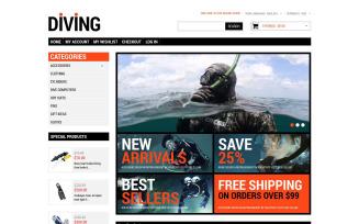 Diving Shop Magento Theme