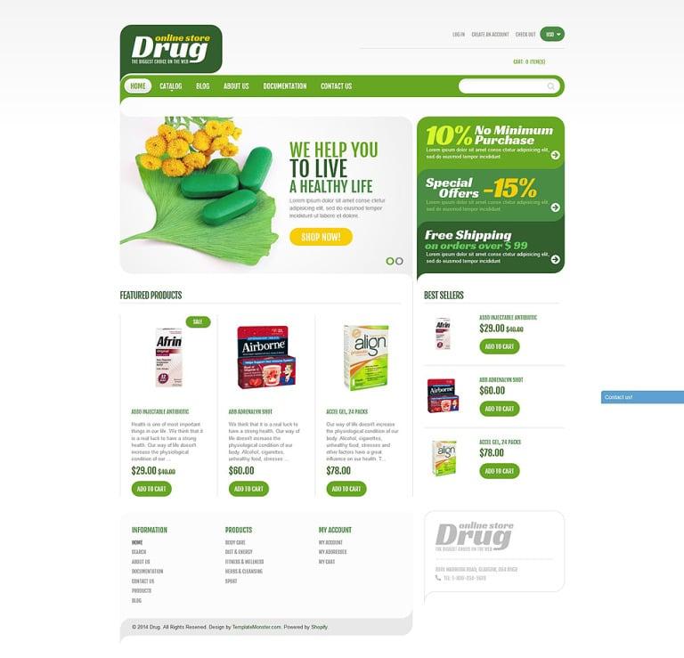 Drug Store Shopify Theme New Screenshots BIG