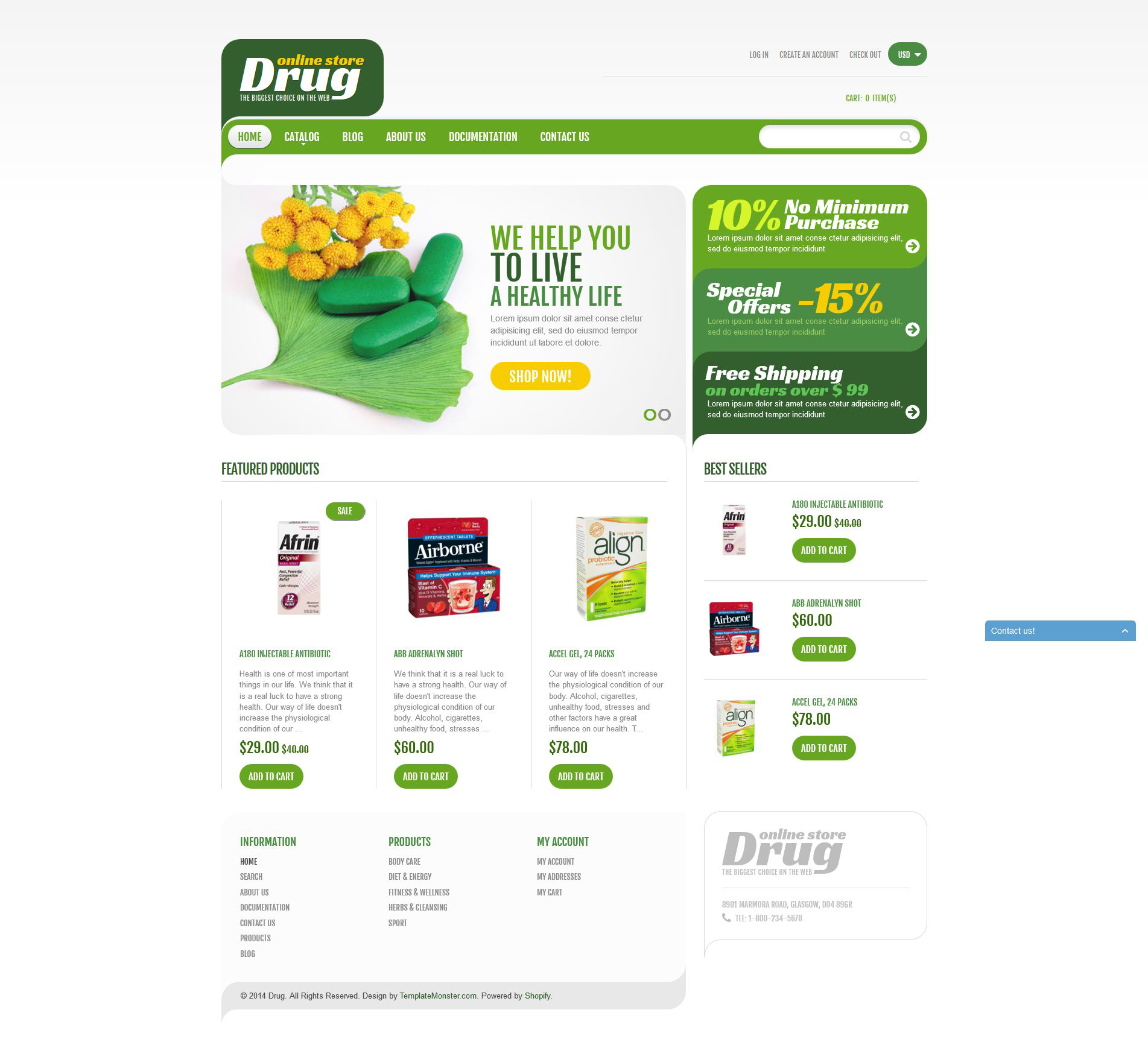 Drug Store Shopify Theme