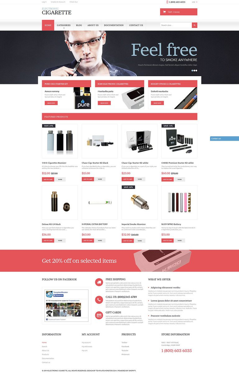 Electronic Cigarettes Shopify Theme New Screenshots BIG