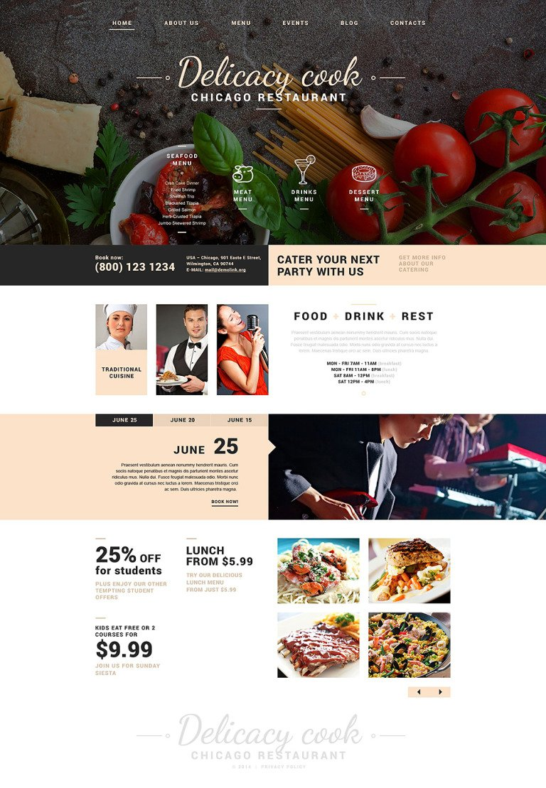 Fancy Restaurant Joomla Template New Screenshots BIG