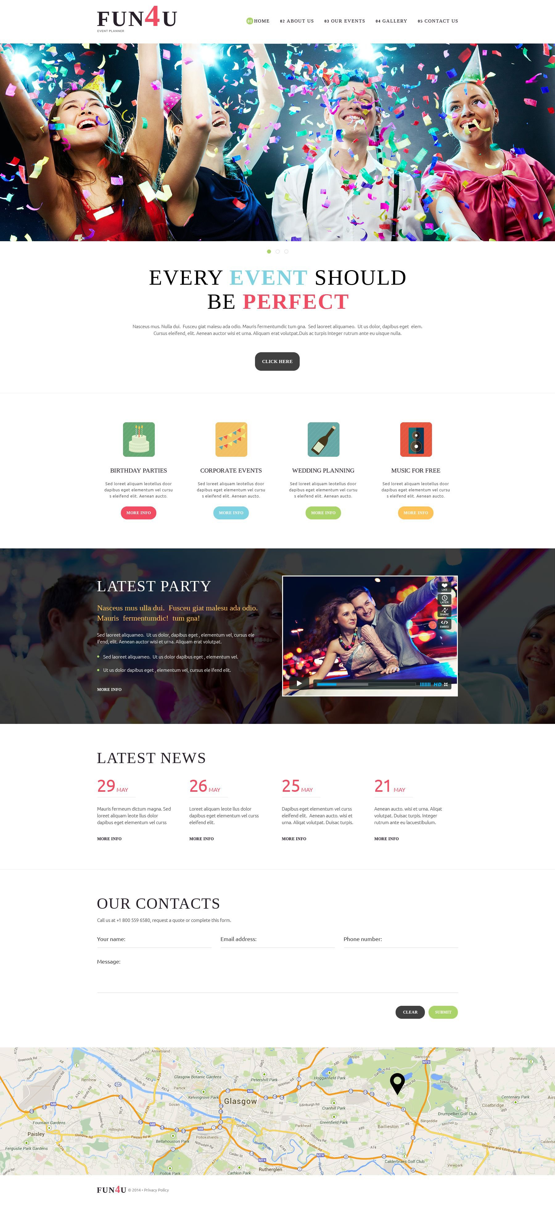 Festivity Planning Joomla Template