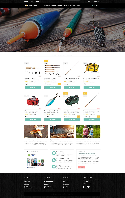 Fishing Accessories PrestaShop Theme - screenshot