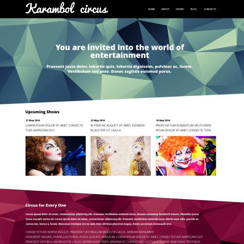 Karambol Circus - WordPress Template based on Bootstrap