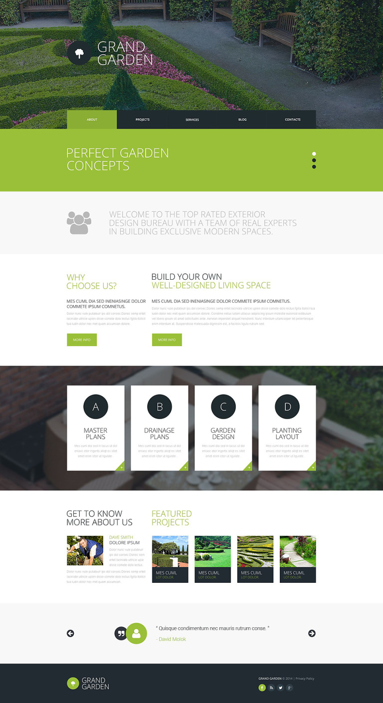 Garden Design Responsive Website Template #51784