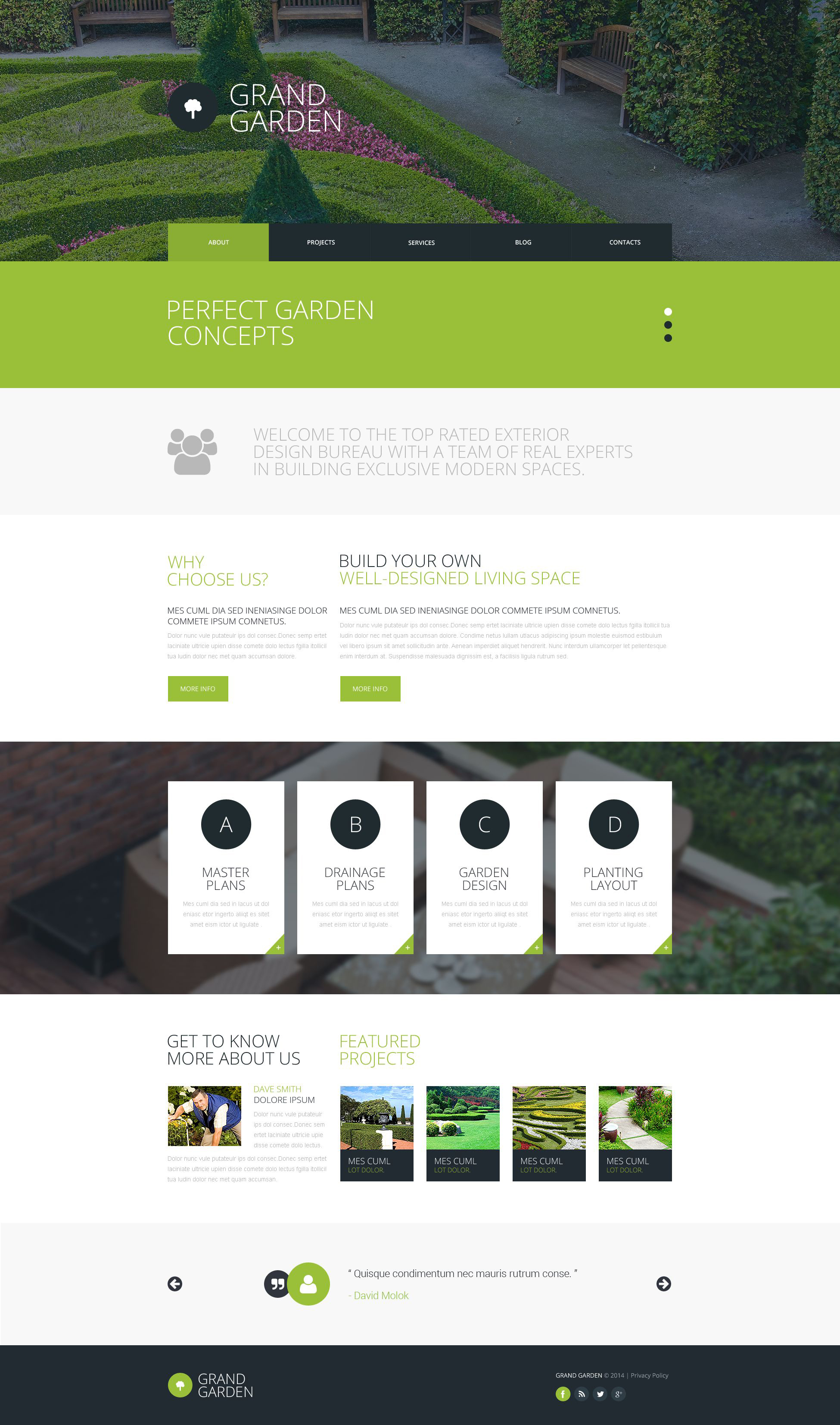 garden design responsive website template - Garden Design Template