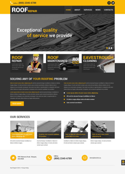 home remodeling joomla templates