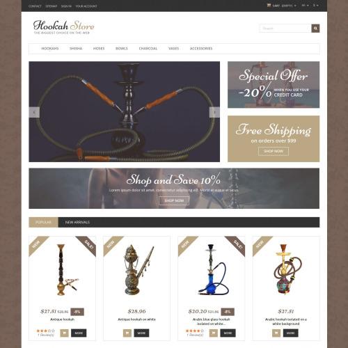 Hookah Store - PrestaShop Template based on Bootstrap