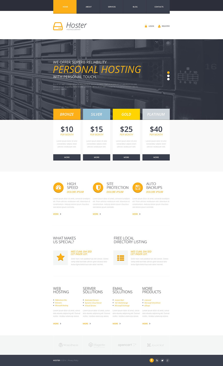 Hosting Responsive Website Template New Screenshots BIG