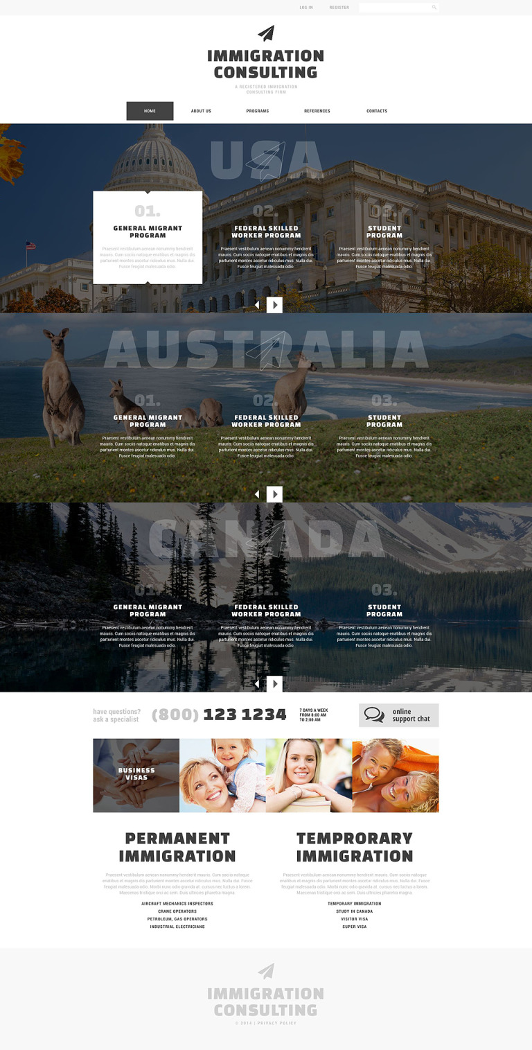 Immigration Consulting Responsive Website Template New Screenshots BIG